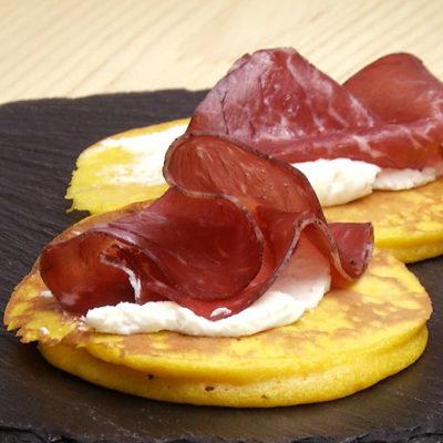 Pancakes di Zucca con Bresaola Black Angus Rigamonti